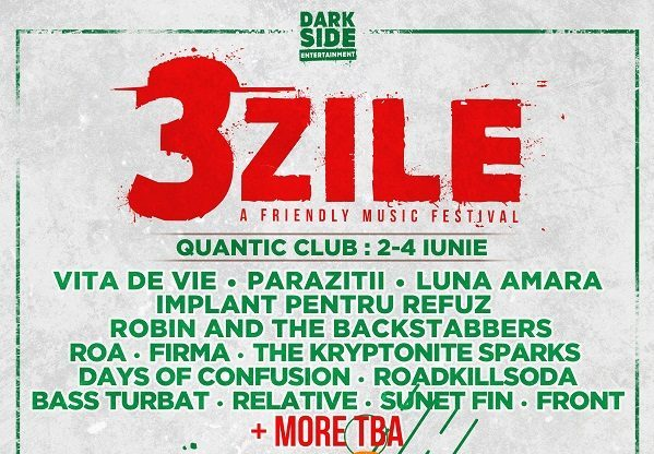 Afis 3ZILE. A Friendly Music Festival